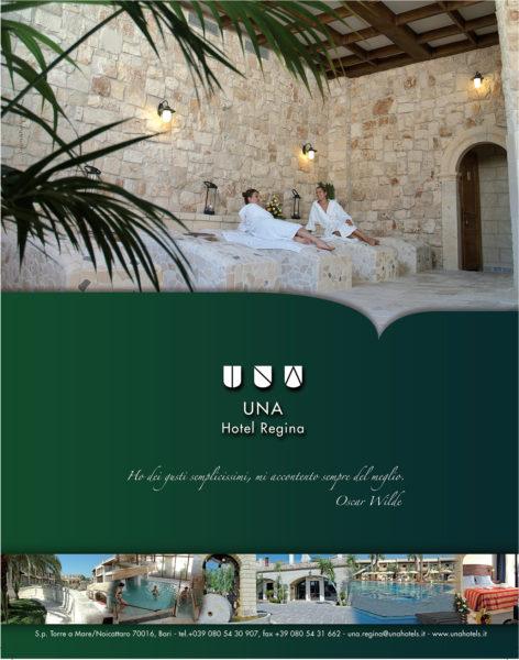 Una Hotel Regina pagina pubblicitaria istituzionale